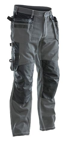 JOBMAN Ultimate Craftsman Workpants Features triple stitch seams, holster pockets, pre-bent knees, bi-level kneepad pockets, Made of a durable heavy-duty cotton. Tactical Wear, Tactical Pants, Tactical Clothing, Mens Work Pants, Pull On Pants, Pantalon Cargo, Cargo Pants, Kevlar Pants, Men's Pants