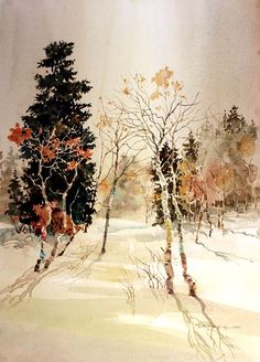 beautiful watercolor by Carl Purcell