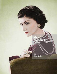 News Photo: Coco Chanel French couturier Paris 1936 Colourized photo