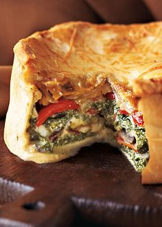 Vegetable Torta makes for a rich and creamy vegetarian dinner. Normthompson.com #Dinner #Vegetarian
