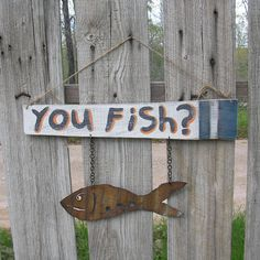 Hey, I found this really awesome Etsy listing at https://www.etsy.com/listing/231720312/fish-sign-primitive-folk-art-metal-fish