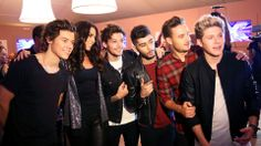 One Direction posed for the cameras after their a