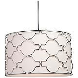 "Artcraft Morocco 23"" Wide Chrome Pendant Light"