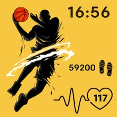 Basketball 🏀 is a cool new clockface for fitbit versa!