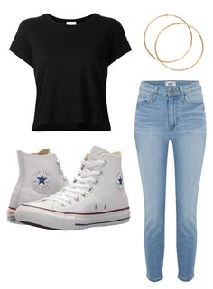 """""""Untitled #30"""" by alaninaissant on Polyvore featuring RE/DONE, Paige Denim and Converse"""