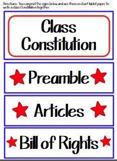 Fern's Freebie Friday ~ Teach123's Class Constitution #FREE #TPT #TeachersFollowTeachers #FernSmithsClassroomIdeas