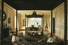 Dueling daybeds. Michelle Nussbaumer for the Greystone Estate-Veranda Show House in 2009.