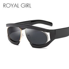 807329af29 ROYAL GIRL Oversized Sunglasses Women 2018 New Big Black Frame Clear Lens Sun  Glasses for Women Male Goggles Oculos ss012