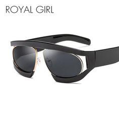 3f1e057cd84 ROYAL GIRL Oversized Sunglasses Women 2018 New Big Black Frame Clear Lens  Sun Glasses for Women Male Goggles Oculos ss012