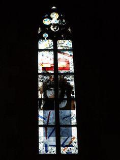 Description: Heidelberg, Germany: Heiliggeistkirche: The Spirit of God over the chaos (1999-2001, artist Hella Santarossa)