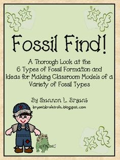 "This resource is an excellent accompaniment to a study of dinosaurs, archaeology, paleontology, prehistory, etc. In ""Fossil Find,"" information is provided for each of 6 types of fossil formation. Have a fabulous time with fossils!"