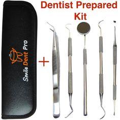 Dental Tools to Remove Plaque Dental Hygiene Kit Set Dental Hand Instruments High Grade Stainless Steel Tartar Scraper Dental Pick Dental cleaning tools kit for Professional Hygienist Home Use Pets