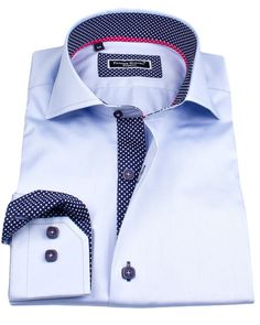Men's fitted shirts - Sheraton blue | UrUNIQUE.com