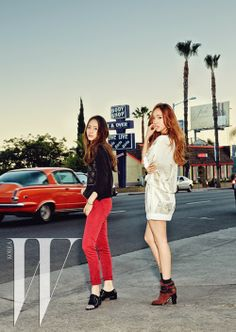 Jessica and Krystal Jung of Girls' Generation #SNSD and F(X) for W Korea Magazine
