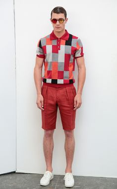 David Hart Spring/Summer 2016 - New York Fashion Week Mens Summer Smart Casual, Smart Casual Men, Business Casual Men, Mens Fashion Week, Mens Fashion Suits, Men's Fashion, Casual Trends, New York Mens, Polo T Shirts