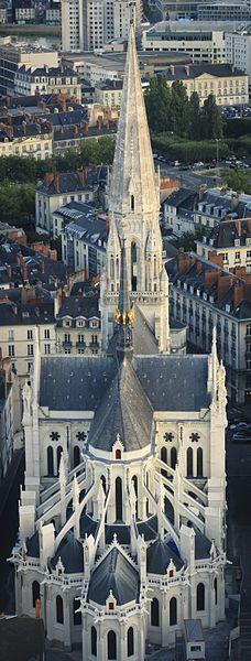 Nantes et la basilique Saint Nicolas . Pays-de-la-Loire. France