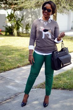 work fall outfit | Light Layers | @Joules G sweater