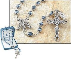 Miraculous Medal Madonna Italian Rosary with special prayer Beads