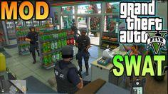 GTA 5 LSPDFR Equipo SWAT Policía de Los Santos MOD DE SWATS JUGAR COMO F...