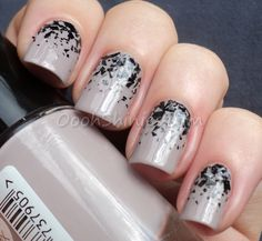 From the vault: chunky black gradient - nail art