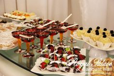 Pastry bar by Bride & Co. exclusively for Royal Palace Banquet Hall Glendale CA.
