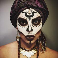 Halloween makeup Voodoo