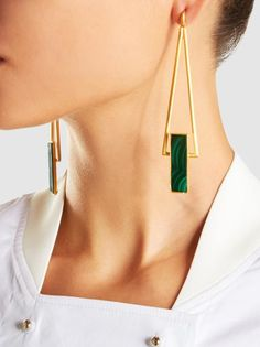 Long Drop Malachite Earrings The post Long Drop Malachite Earrings appeared first on Trendy. Ear Jewelry, Silver Jewelry, Fine Jewelry, Jewellery Earrings, Fashion Earrings, Fashion Jewelry, Women Jewelry, Stylish Jewelry, Luxury Jewelry