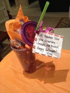 Teacher gift for halloween.