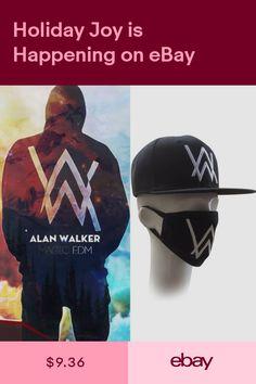 e82bb8bd9ca Music DJ Alan Walker Cosplay Accessory Set of Sweater Faded Cap Hat + Mask