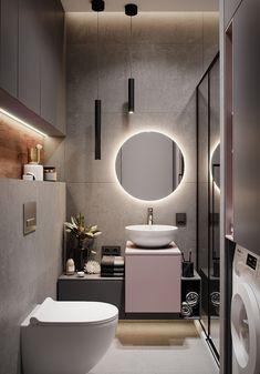 Apartment Bathroom Design, Washroom Design, Toilet Design, Bathroom Design Luxury, Apartment Interior Design, Bathroom Layout, Modern Bathroom Design, Small Bathroom, Modern Small Apartment Design