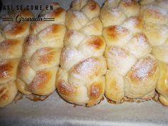 Así se come en Granada: trenza de brioche - Bread - Easy Baking Recipes, Healthy Baking, Cooking Recipes, Biscuit Bread, Pan Bread, Mexican Food Recipes, Sweet Recipes, Challah Bread Recipes, Brioche Bread