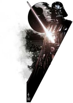 Darth Vader + Death Star = I want this on my wall one day.