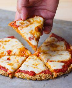 Cauliflower Pizza Crust - Ingredients: 1 cauliflower, 1/4 cup water, 1 tsp oregano, 2 tbsp... Full recipe: chocolatecoveredkatie.com/2016/09/05/cauliflower-pizza-crust-vegan/ @choccoveredkt