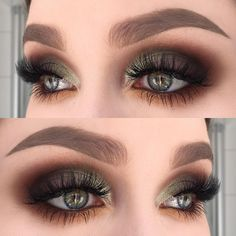 A make-up guide for the perfect smokey eyes look – hau … – About Face Makeup Makeup Goals, Makeup Inspo, Makeup Tips, Beauty Makeup, Silver Eye Makeup, Smokey Eye Makeup, Skin Makeup, Makeup Brushes, Green Smokey Eye