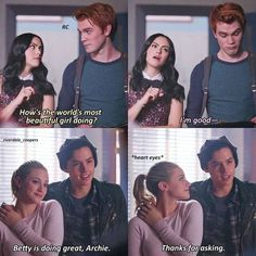 34 Of The Best Riverdale Quotes memes jokes funny humor 723812971344900135 Riverdale Quotes, Riverdale Archie, Bughead Riverdale, Riverdale Funny, Riverdale Tumblr, Watch Riverdale, Riverdale Betty And Jughead, Betty & Veronica, Lili Reinhart And Cole Sprouse