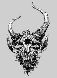 True Defiance - Demon Hunter by Justin Kamerer, via Behance