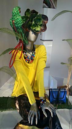 "Miro's Boutique South Miami "" Spring in the Amazon"" by [ BANGO ] http://bango-productions.com/portfolio/bango-visual-merchandising"