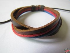 Easter gift  Adjustable Leather Bracelet made of   by sevenvsxiao, $3.50