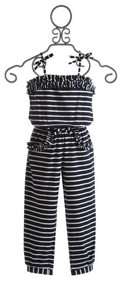 Kate Mack Navy Blue Girls Romper $56.00