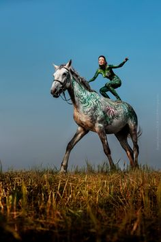 Horsejunction. Body art project. by Evgeny Litvinov, via Behance