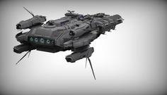 by Santobell on DeviantArt Arte Sci Fi, Sci Fi Art, Bell Art, Sci Fi Spaceships, Building Concept, Star Destroyer, Navy Ships, Star Citizen, Journal Entries