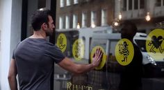 """interactive shop window"" - UK's Hiut Denim Co. brand set up an interactive shop window at a River and Hide store in London, making use of conductive paint to deliver th. Interactive Walls, Interactive Display, Interactive Installation, Interactive Design, Interactive Marketing, Window Display Design, Denim Window Display, Window Displays, Retail Experience"