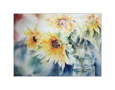 Sunflower / Aquarell 48x34cm