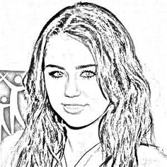 Miley Cyrus drawing. Upload your photo and get a drawing for free!