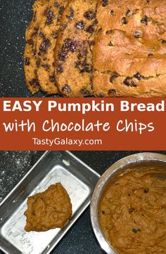BEST pumpkin bread is so easy to make! All you need are just a few ingredients, and one bowl to make this moist pumpkin bread. Your whole family will love this healthy pumpkin bread Fresh Baked Bread Recipe, Sweet Loaf Recipe, Best Bread Recipe, Pan Recipe, Chocolate Pumpkin Bread, Moist Pumpkin Bread, Healthy Pumpkin, Chocolate Chips, Sweets Recipes