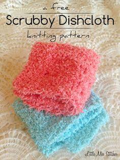Little Miss Stitcher: Scrubby Dishcloth Pattern
