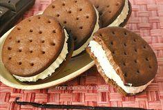 Provate a realizzare in casa questo freschissimo biscotto gelato alla vaniglia, senza gelatiera e con pochi passaggi otterrete una merenda buonissima.