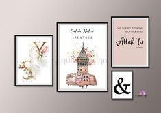 Executing Nail Layouts At Your House - Decoration is Art Islamic Decor, Islamic Wall Art, Islamic Gifts, Islamic Quotes, Islamic Posters, Istanbul, City Poster, Poster Shop, Ramadan