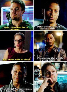 Oliver, Felicity & Diggle #Arrow #DrawBackYourBow #Olicity