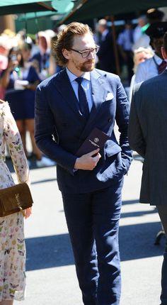 Tom Hiddleston attended Wimbledon final game.  15.07.2018 London